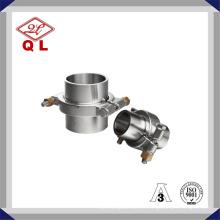 Sanitária Stainess montagem de tubos de aço Ferrule alta pressão conjunto de grampos