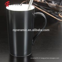 Tasses de porcelaine en céramique à toner de remorquage tasse en grès glacé