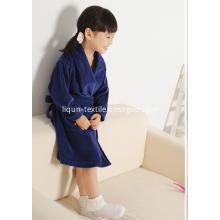 Children Velvet Bathrobe Navy Blue Home Pajamas