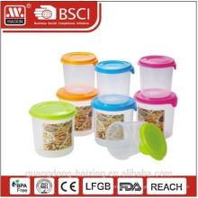 Recipiente de alimento, utensílios domésticos de plástico (2pcs) 0.8L/1.4L