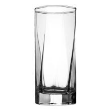 Copos de vidro domésticos poligonais