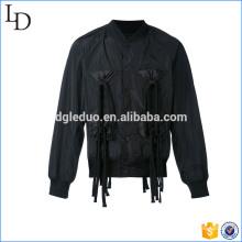 2017 Männer hochwertige schwarze Jacke Blazer individuelle spezielle Design Bomberjacke