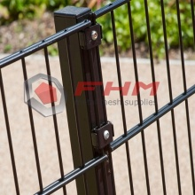 Black PVC Fence of Double Horizontal Wire