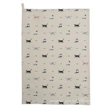 toalla de té divertida de la toalla de cocina del patrón de la impresión del perro de la calidad de hight TT-024