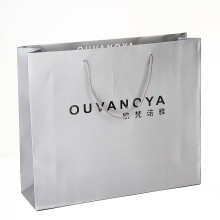 2016 novo saco de papel de compras de luxo para pano