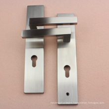 Effective Delivery Door Handleset with Lock Plate in Satin Nickel