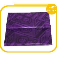 Nouvelle Mode Pourpre Africain Vêtement Guinée Brocade Coton Abaya Tissu Matériel Bazin Riche Doux Textiles De Fête De Mariage Feitex