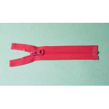 Good quality and logo printed red nylon zipper for dress