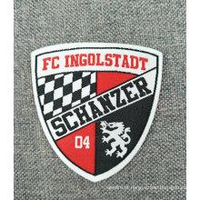 Etiqueta tecida do logotipo do nome da equipe de futebol
