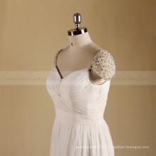 Classic cap sleeve A line Alibaba Beaded Boho Beach wedding dress bridal gown