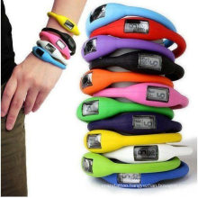 Silicone Sport Step Counter Watch and Pedometer Watch for Promotion