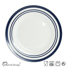 Ensemble de dîner en céramique de 27 cm avec impression de décalque de conception simple