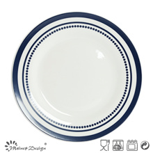 27cm Ceramic Dinner Set with Simple Design Decal Print