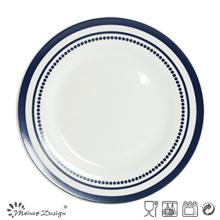 Plato de cena de porcelana de 27cm con impresión simple de calcomanías