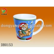 Decals for porcelain shaped drinking mug