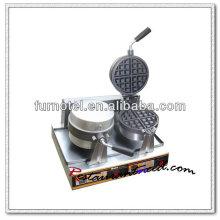 K504 Gaufrier rotatif électrique 2 têtes de comptoir
