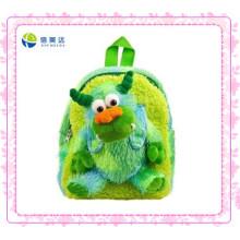 Green Monster Plush Backpack para crianças (XDT-0032Q)