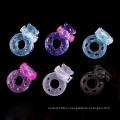 Оптово-эластичные силиконовые вибрирующие кольца для пениса с бабочкой для пары