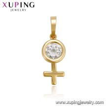33440 xuping venta caliente joyas elegantes mujeres último diseño colgante de piedras preciosas para las mujeres