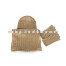 Mode Herren Kaschmir-Hüte, Schals & Handschuhe-Sets