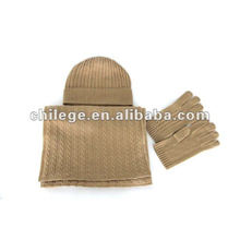 fashion men's cashmere hats,scarves & gloves sets