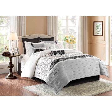 Madison Park Temsia Comforter Duvet Cover Embroidered Black Bedding Set