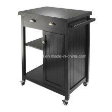 Cozinha de madeira carrinho Buffet carrinho de cozinha armário de madeira sólida com CE (G-K09)