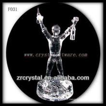 Champion sculpté à la main en cristal K9