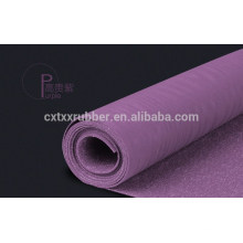 super thin rubber yoga mat, customized fabric rubber yoga mat