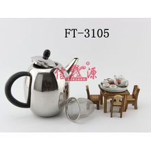 Stainless Steel Black Plastic Handle Kettle (FT-3105-XY)