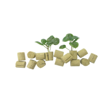 Greenhouse Hydroponic Rock Wool Plugs For Tomato Seeds Seedling