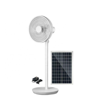 Ventilador solar recargable 16/14 pulgadas 12v ventilador de pie