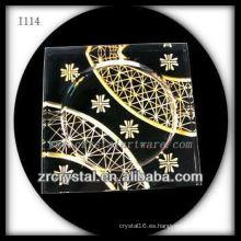 Cenicero de cristal K9 con imagen grabada