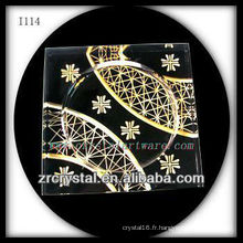 Cendrier en cristal K9 avec image gravée