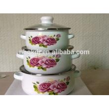 3 piezas de utensilios de cocina de acero quirúrgico enamelware en china