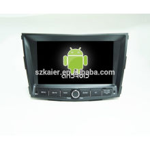 HOT!car dvd with mirror link/DVR/TPMS/OBD2 for 8 inch touch screen quad core 4.4 Android system Ssangyong Tivolan