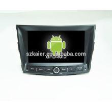 HOT! Carro dvd com link espelho / DVR / TPMS / OBD2 para 8 polegada tela sensível ao toque quad core 4.4 Android sistema Ssangyong Tivolan