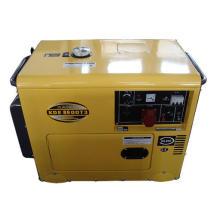 Generador diesel portátil monofásico de una sola fase de 6kw
