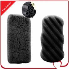 Éponge de Konjac de nettoyage de corps de charbon de bois de bambou activé à 100% pur avec le prix d'usine