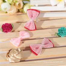 Pure and fresh organza ribbon bow/ tulle ribbon hair bows