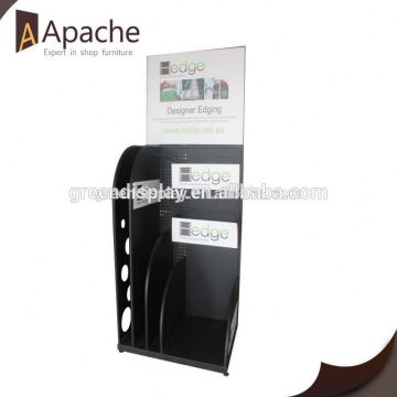 With quality warrantee style floor display stand with plastic hooks