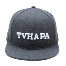 promotion grey custom snapback hat wool 3d embroidery snap back hats