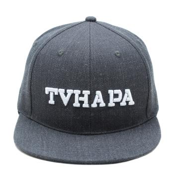 promoção cinza personalizado snapback chapéu lã 3d bordado snap chapéus traseiros