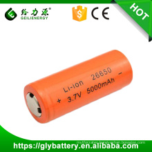 GLE 26650 3.7v 5000mAh Li-ion Battery Flashlight Replacement Lithium Battery