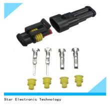 China Factory2 Pin Superseal Tyco / AMP conector macho y hembra automotriz y terminal