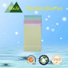 Recurso Anti-Curl e Pulverização Químico-Mecânica de Celulose Papel Colorido de Papelão