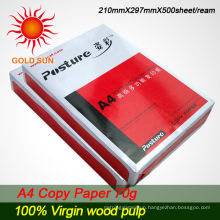 Cheap Mixed pulp office a4 copy paper 70gsm
