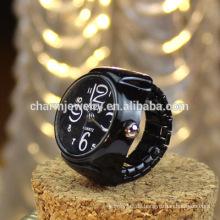 Viele Farben Ring Uhr Metall Ring Uhr Design für Studenten Großhandel JZB007