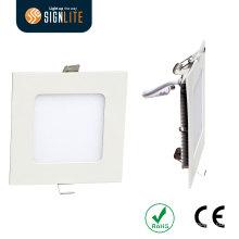 SMD 2835 6W LED econômico Downlight esquadrado, furo de corte 105 * 105mm
