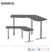 Puesto de trabajo de escritorio ajustable moderno elegante de la altura de la oficina de 120 grados con 3 piernas